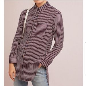 Anthropologie Striped Button Up Shirt